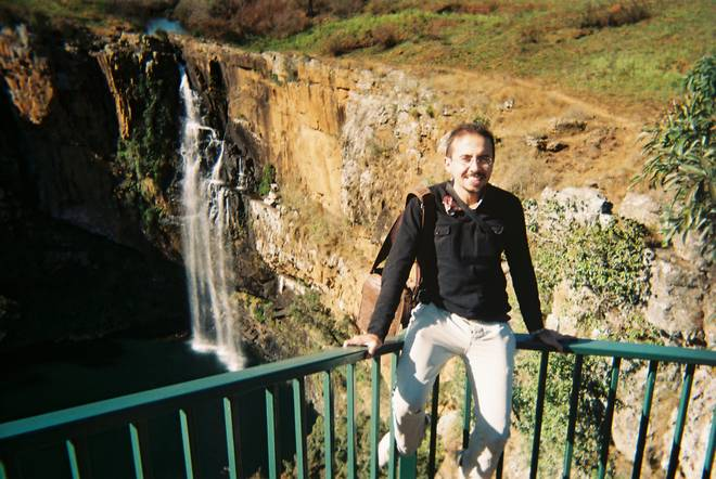 Payman with waterfall